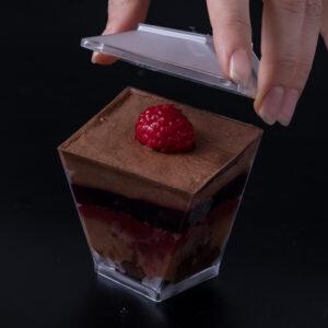 mousse al cioccolato e lampone